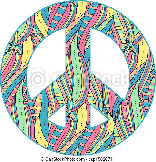 peace symbol on white background - csp15828711