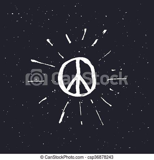 Peace symbol pacific sign - csp36878243