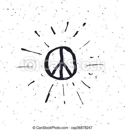 Peace symbol pacific sign - csp36878247
