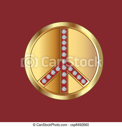 Peace symbol - csp8492660