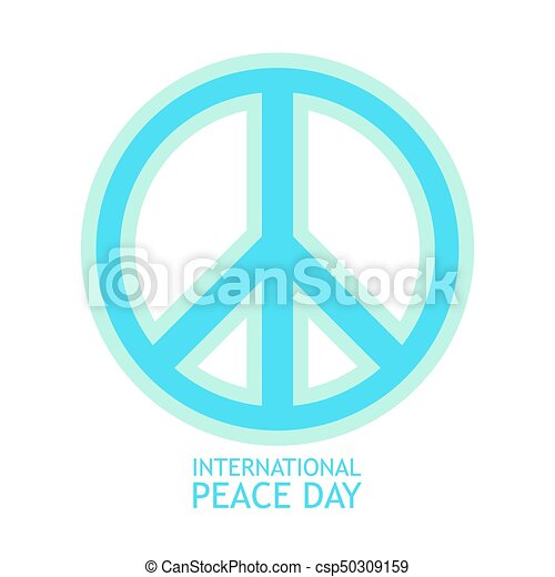 Peace Symbol Vector Icon In Light Colors For Poster Peace Symbol