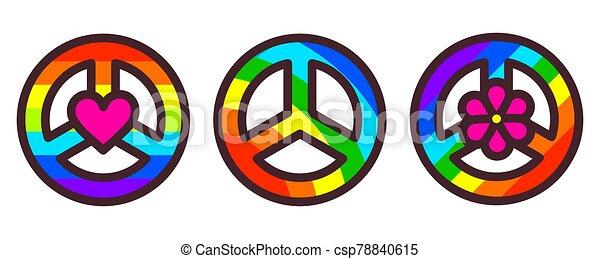 Peace symbol vector illustration - csp78840615