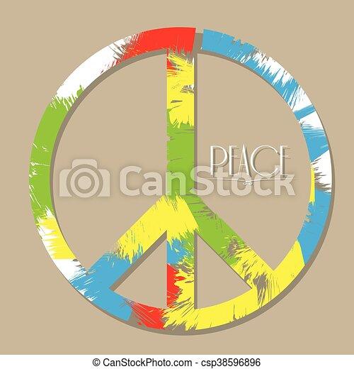 Peace, Vector illustration - csp38596896