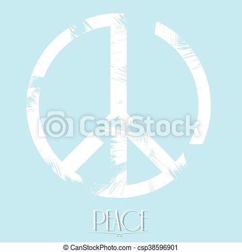 Peace, Vector illustration - csp38596901