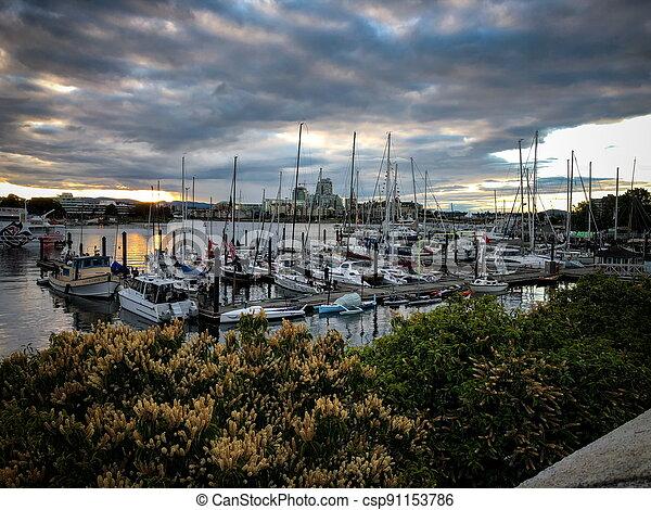 Peaceful little port - csp91153786