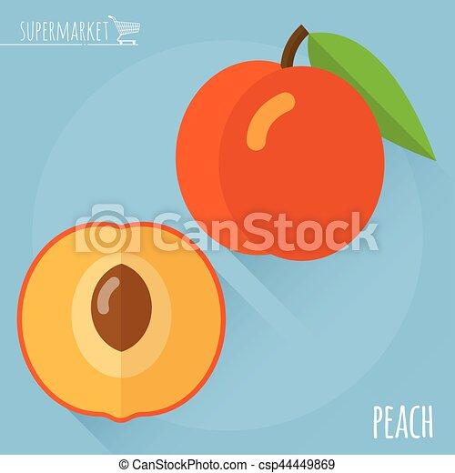 Flat Peach Vector