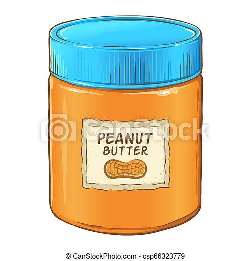 Peanut Butter Jar Stock Vector (Royalty Free) 226199821