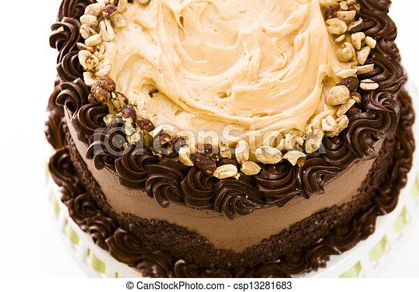 Peanut butter mousse cake - csp13281683
