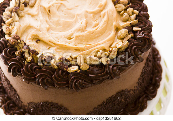 Peanut butter mousse cake - csp13281662