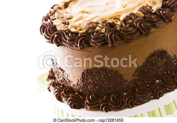 Peanut butter mousse cake - csp13281659