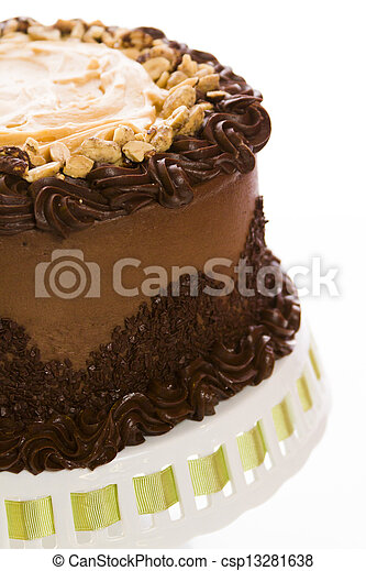 Peanut butter mousse cake - csp13281638