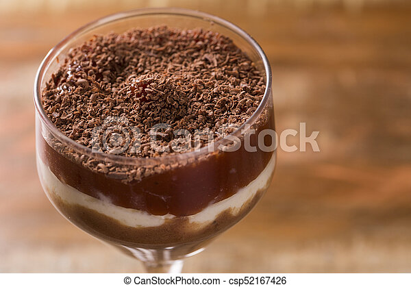 peanut butter mousse, cream cheese with guava and half bitter chocolate - csp52167426