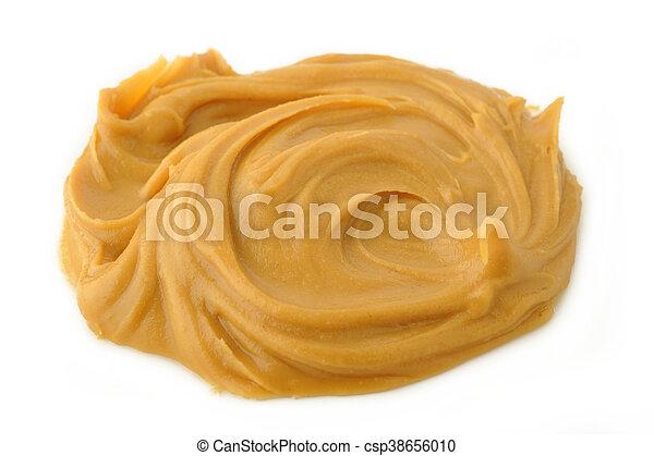 peanut butter on white background - csp38656010