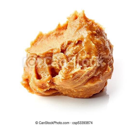 peanut butter on white background - csp53393874