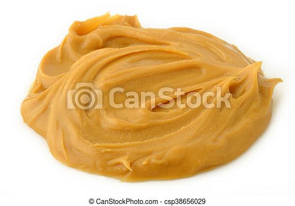 peanut butter on white background - csp38656029