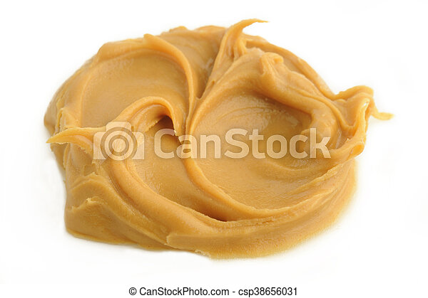 peanut butter on white background - csp38656031