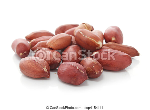 peanut fruits dried legume isolated - csp4154111