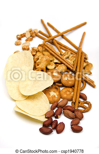 Peanuts and salty snacks - csp1940778
