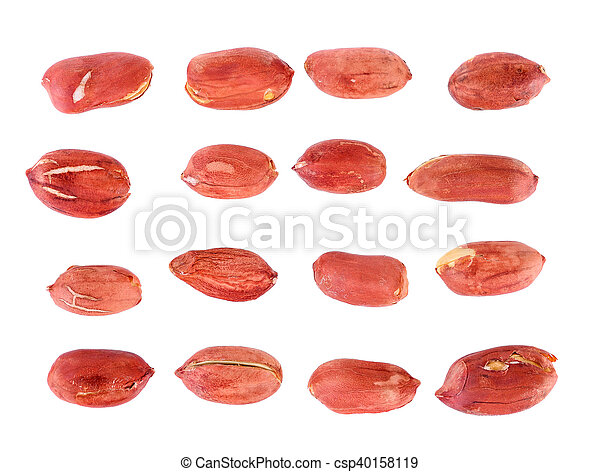 peanuts isolated on white background - csp40158119