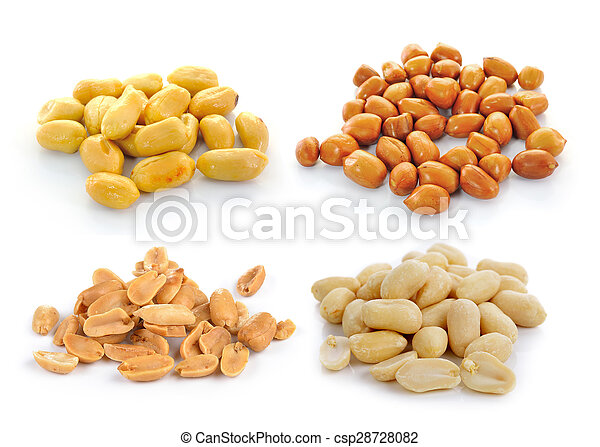 peanuts isolated on white background - csp28728082