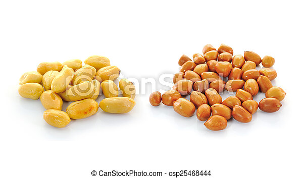 peanuts isolated on white background - csp25468444