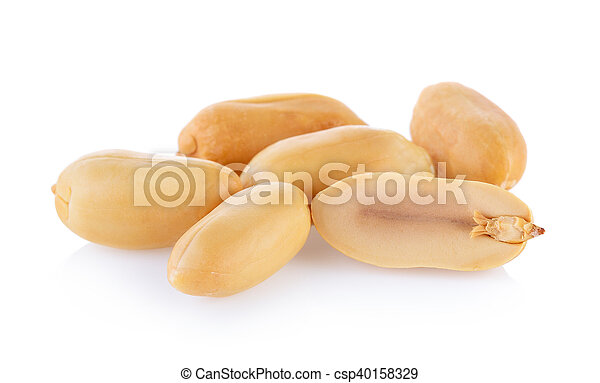 peanuts isolated on white background - csp40158329