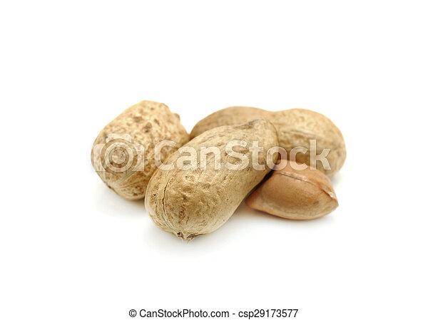 Peanuts on white background - csp29173577