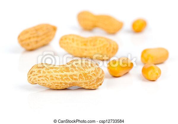 Peanuts, on white background - csp12733584