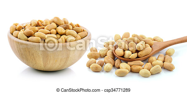 peanuts on white background - csp34771289