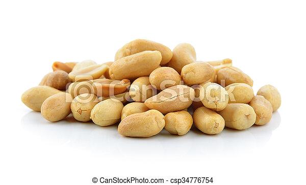 peanuts on white background - csp34776754
