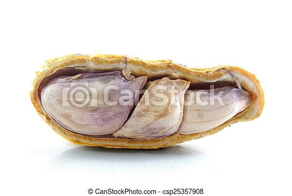 Peanuts on white background - csp25357908