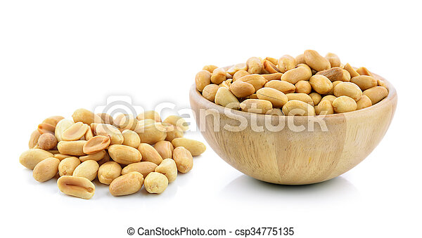 peanuts on white background - csp34775135
