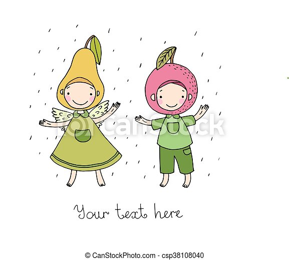 pear., 漫画, かわいい, アップル - csp38108040