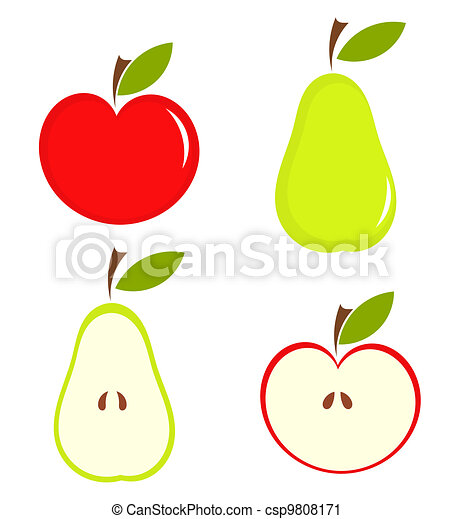 Pear and apple - csp9808171