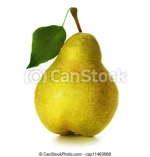 Pear over white - csp11463868