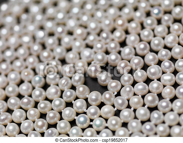 Pearl beads abstract background - csp19852017