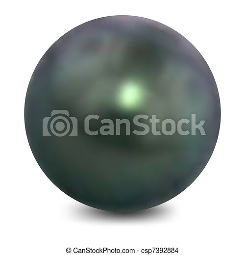 Pearl on a white background. Vector - csp7392884
