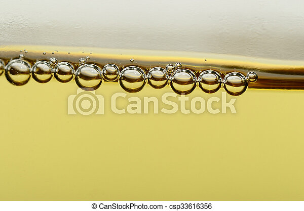 pearls of champagne in macro - csp33616356