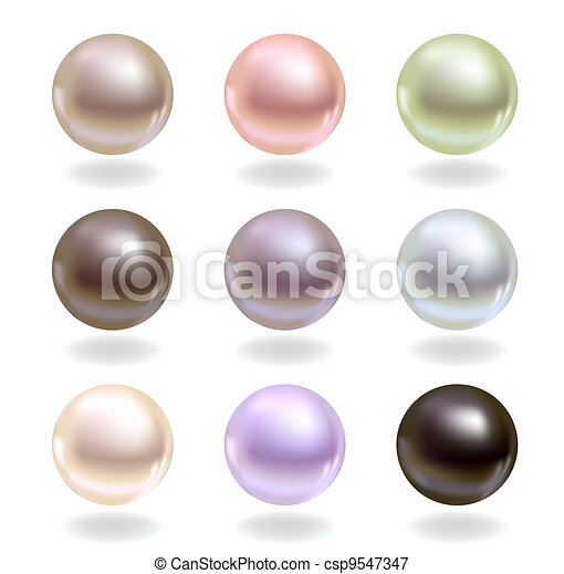 Pearls of different colors - csp9547347