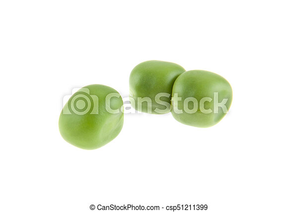 Peas isolated on white background - csp51211399