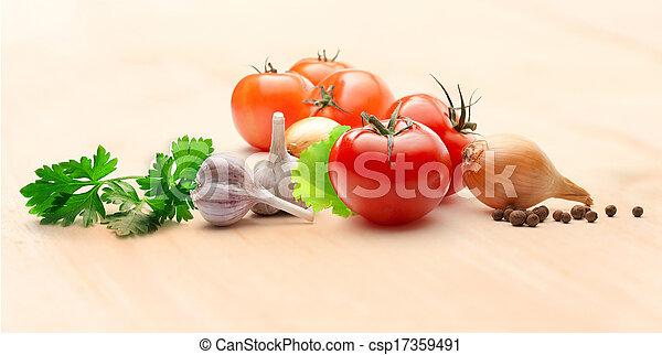 peber, løg, tomater - csp17359491