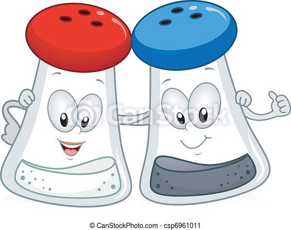 peber, salt. - csp6961011