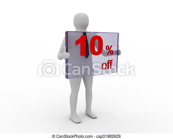 pecent, 10, 割引, 季節的, 買い物, 離れて, 販売 - csp31982629