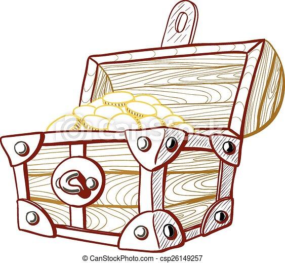 El cofre del tesoro - csp26149257