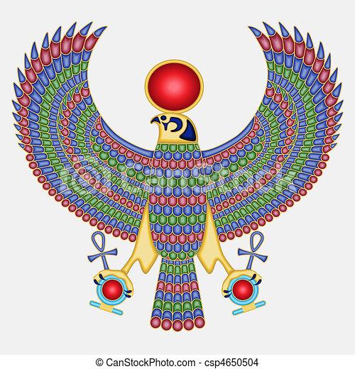 pectoraal, valk, egyptisch - csp4650504