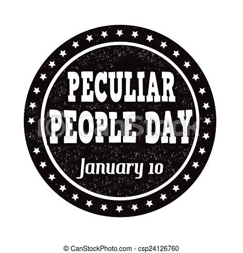 Peculiar people day stamp - csp24126760