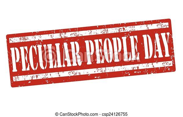 Peculiar people day stamp - csp24126755