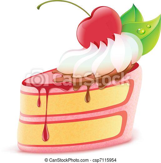 pedaço bolo - csp7115954