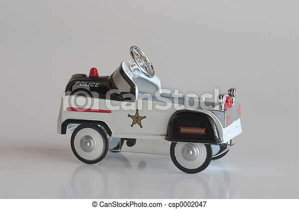 pedaal, -, auto, politie - csp0002047