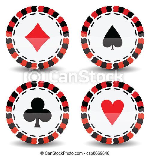 Chips de casino - csp8669646